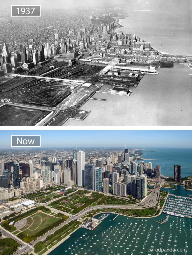 30 Before And After Pics Showing How Famous Cities Changed Over