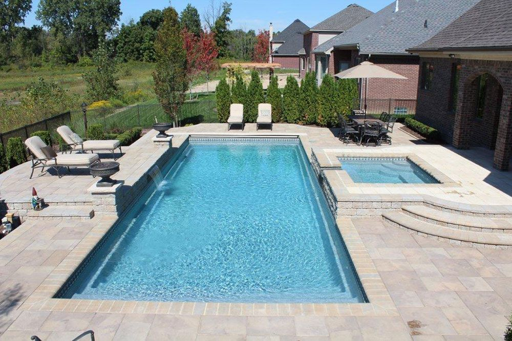 rectangular pool images rectangle pools with spa ideas for the house pinterest rectangle pool rectangular pool and pool images