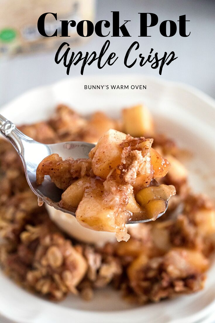 Crock Pot Apple Crisp - Bunny's Warm Oven #applecrisp