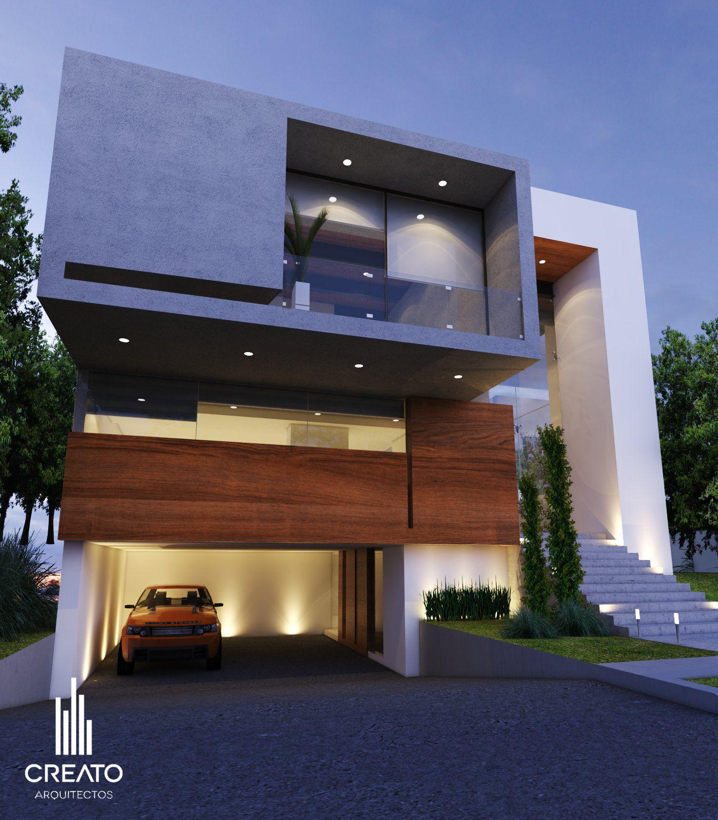 Casa campo lago por creato arquitectos salas casas Modern house columns