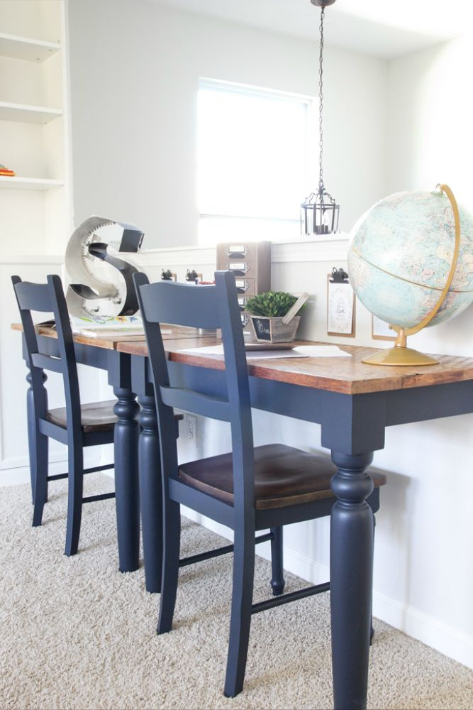 Repurposed Kitchen Table Wall Mounted Desks + ORC Week 3   Blessu0027er House
