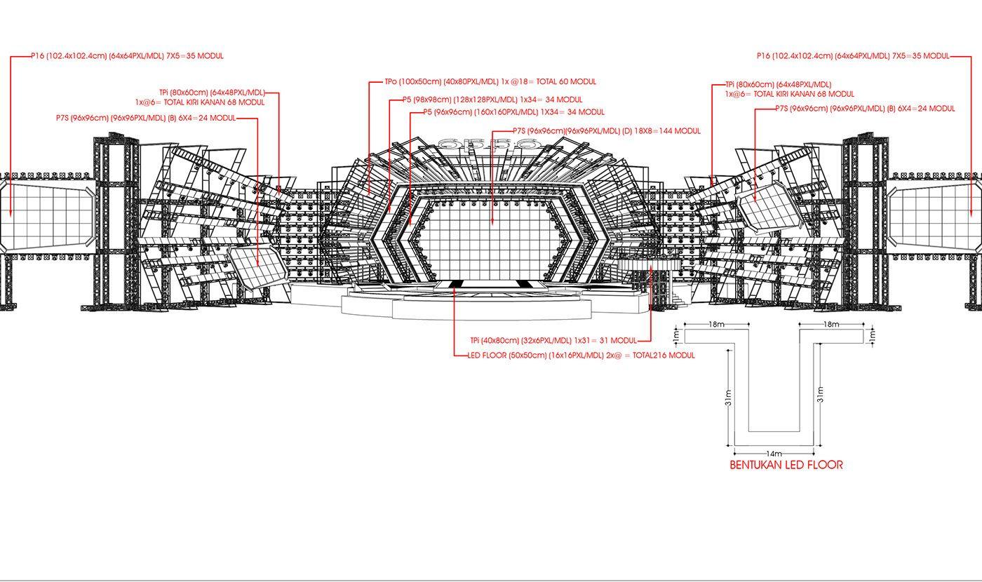 Oppo Selfie Fest Concert On Behance Concert Stage Design Stage Set Design Stage Lighting Design
