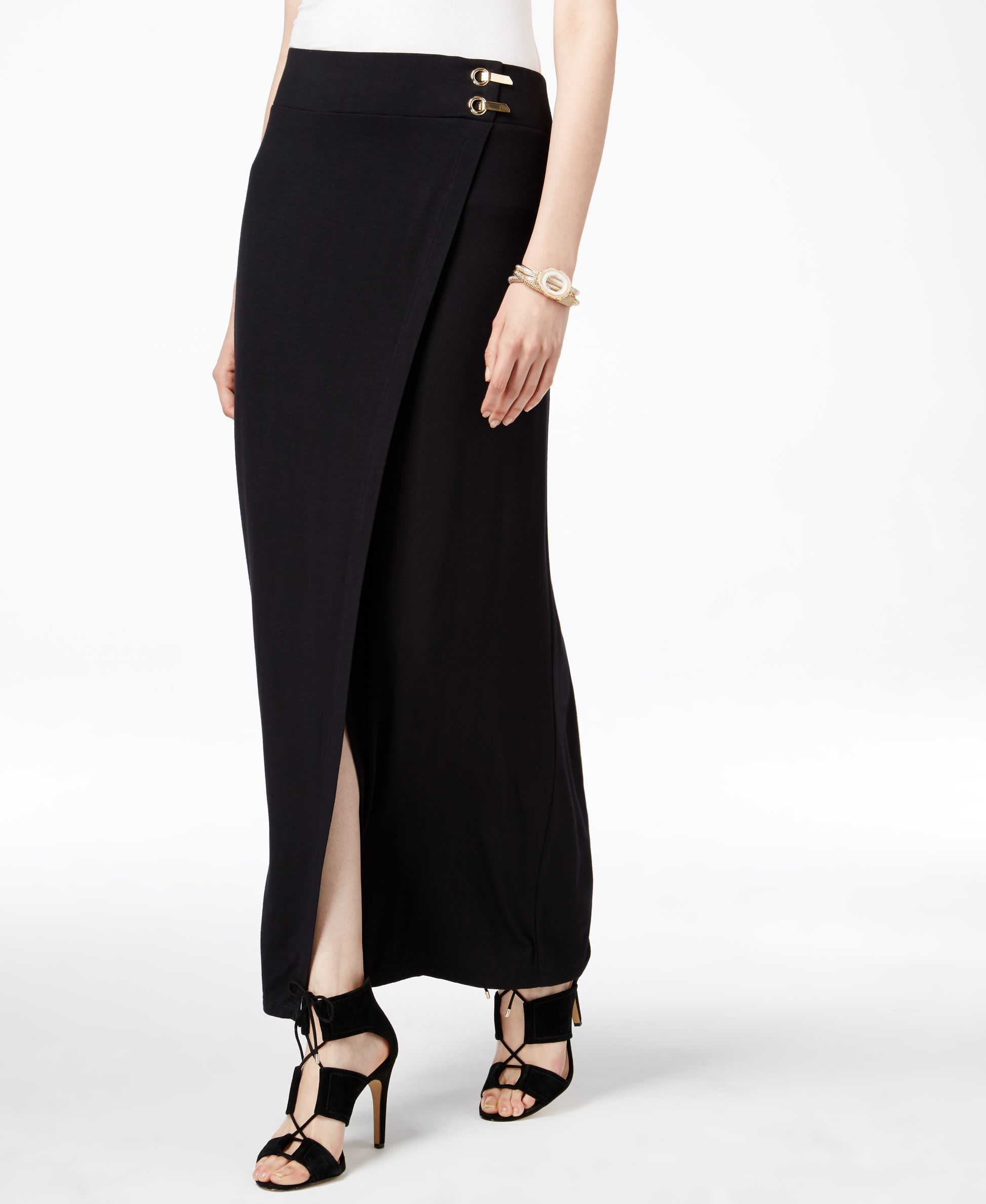 6febe56db Inc International Concepts Faux-Wrap Maxi Skirt, Only at Macy's ...