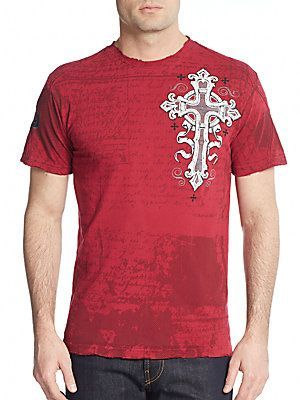 Affliction Insanity Graphic Tee - Dirty Red - Size M
