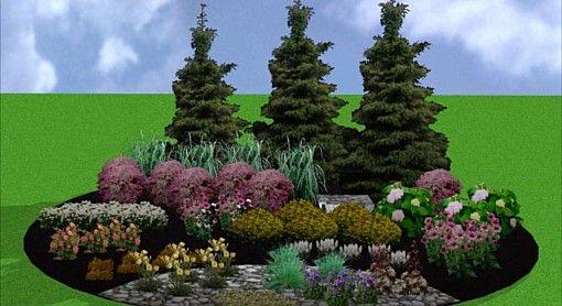 Island Perennial Bed Island Perennial Bed Landscape