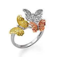 خواتم في شكل فراشة بنات حواء Butterfly Ring Floral Rings Jewelry
