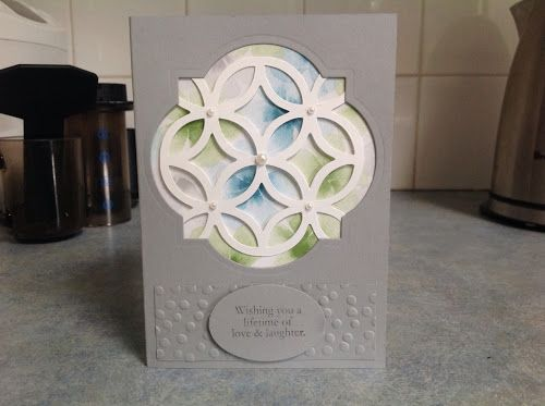 Summer workshop, lattice die, Stampin up, kaseycreations, window framelit dies, decorative dots