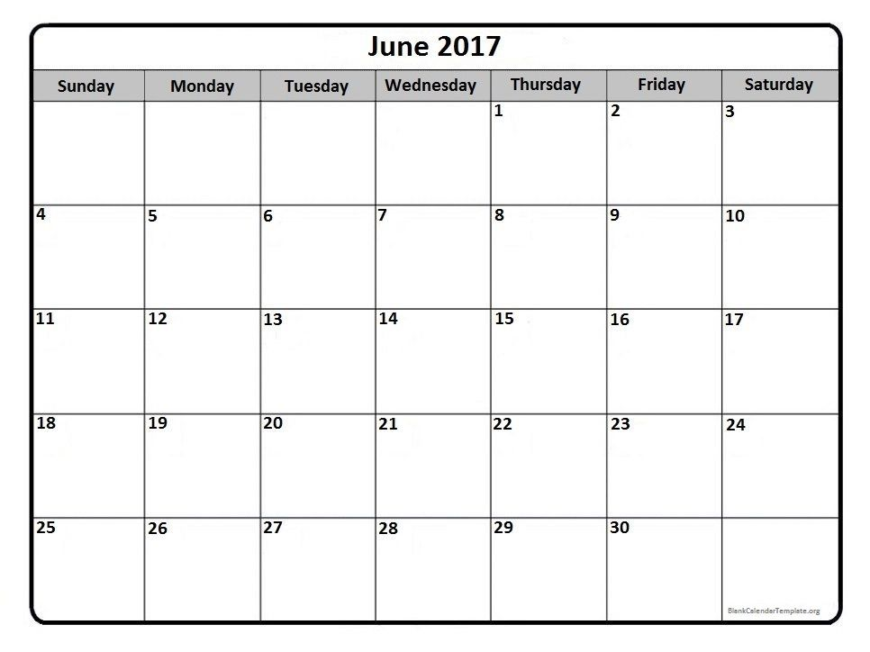 June 2017 Calendar Canada | June Month | Pinterest | Printable