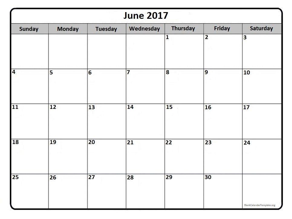 June 2017 Calendar Canada Printable Calendar July Calendar 2019 Printable July Calendar
