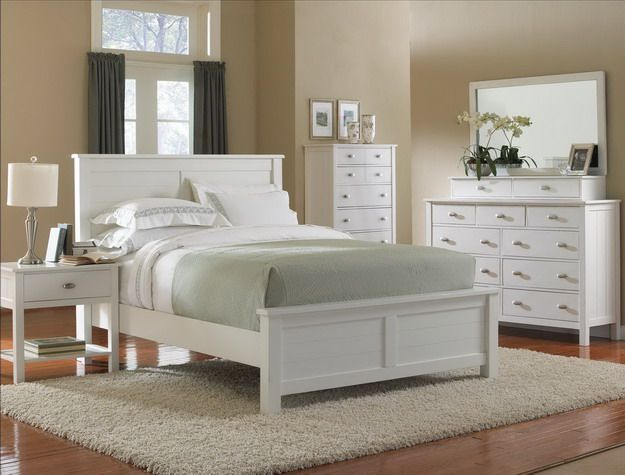 Love this white bedroom furniture   clean and simple  Would go great     Hotel Surplus has some amazing furniture at incredible prices
