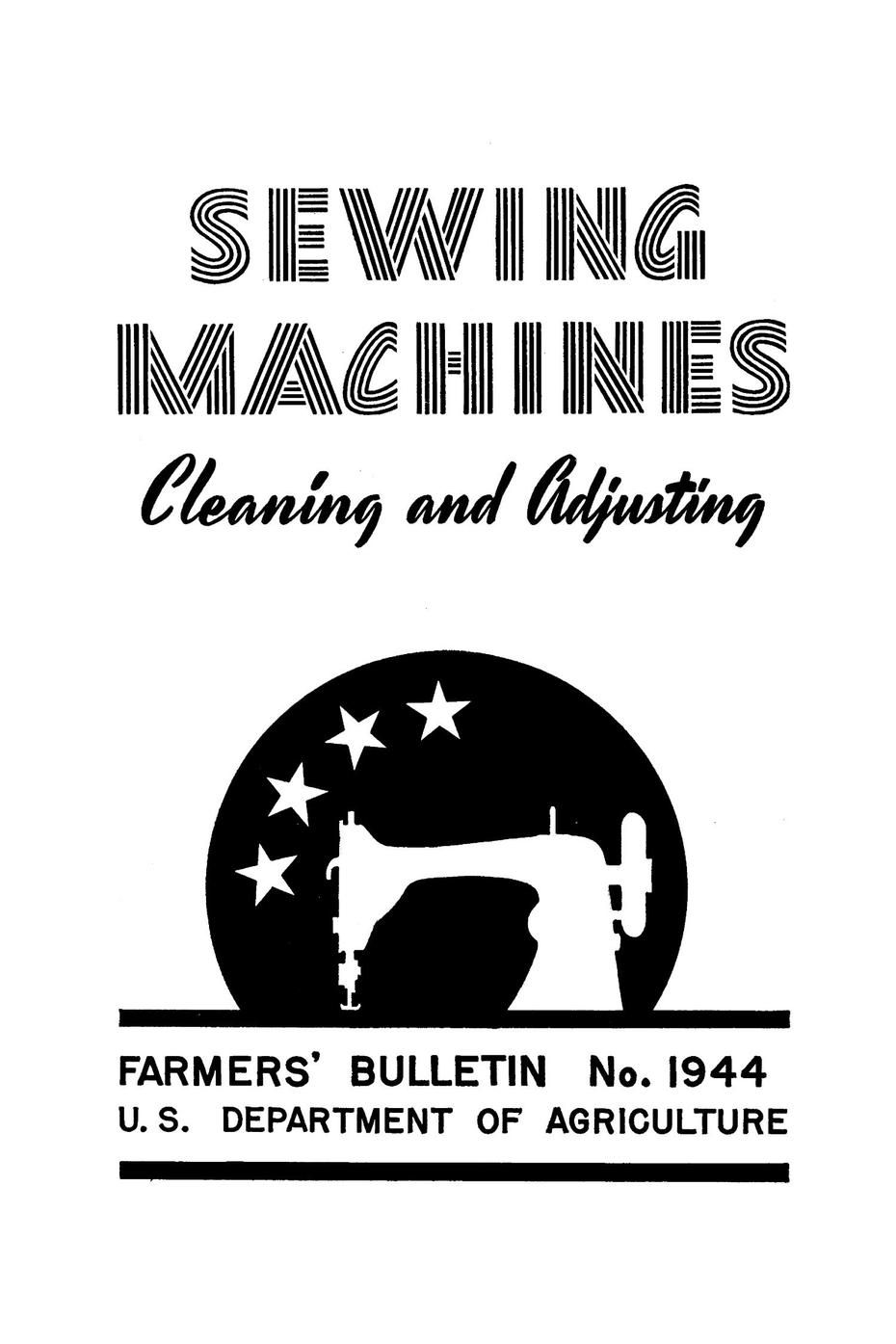 USDA FARMERS' BULLETIN NO.1944 (1943): Treadle and other