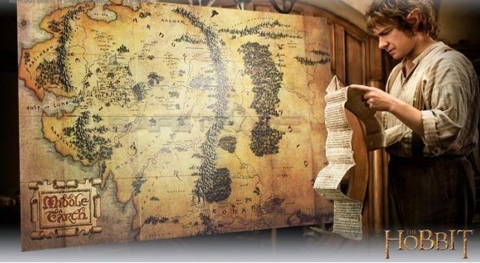 Hobbit Drewniana Mapa Middle Earth Vintage World Maps Map World Map