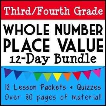 Third-Fourth Grade Place Value Unit Over 70 Pages of Lesson - place value unit