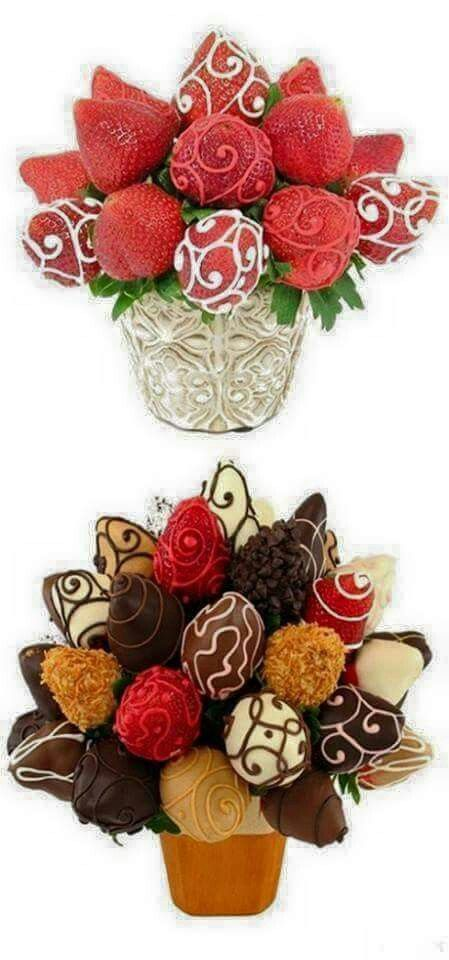 Bouquet de fraises... ... | Yummy Desserts | Pinterest | Food art ...