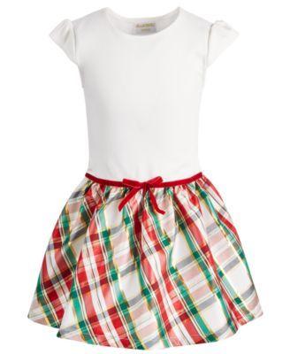 e14cca696 Blueberi Boulevard Toddler Girls 2-Pc. Plaid Dress   Coat Set - Red ...