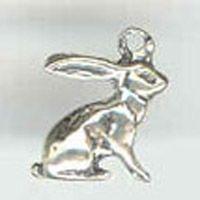 Bunny Rabbit Jackrabbit Sterling Silver Charm