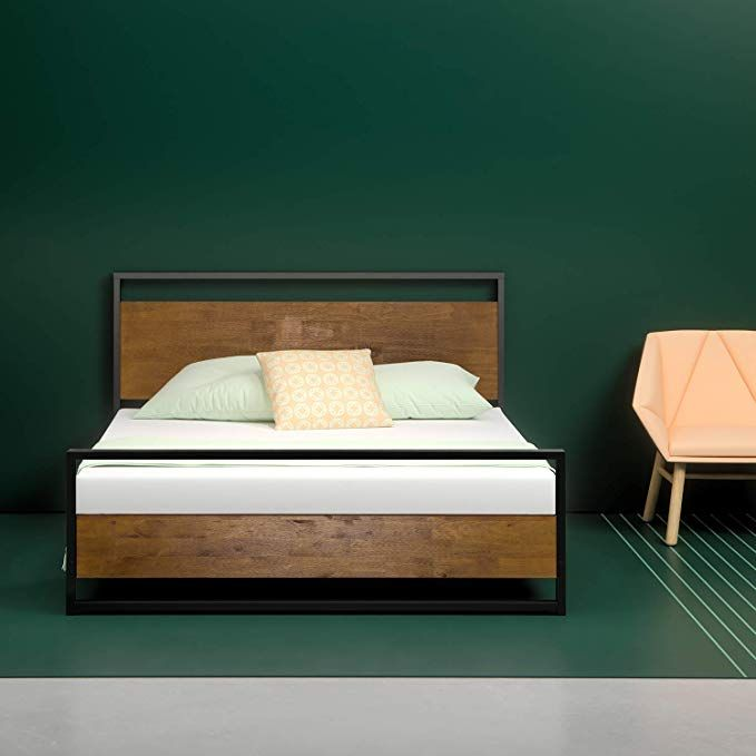 229 Zinus Ironline Metal And Wood Platform Bed With