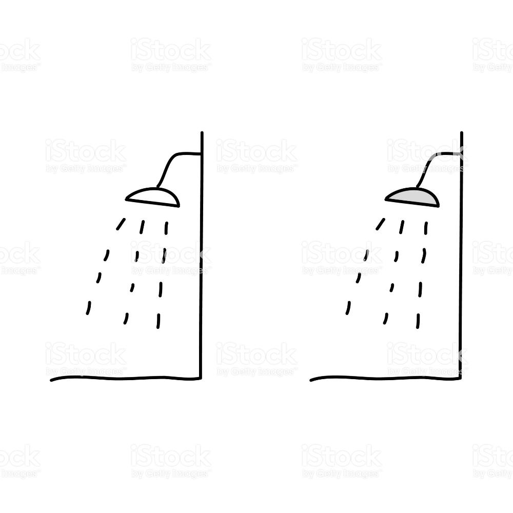 Cartoon Drawing Of A Shower Head Free Vector Art Stock Illustration Cartoon Drawings