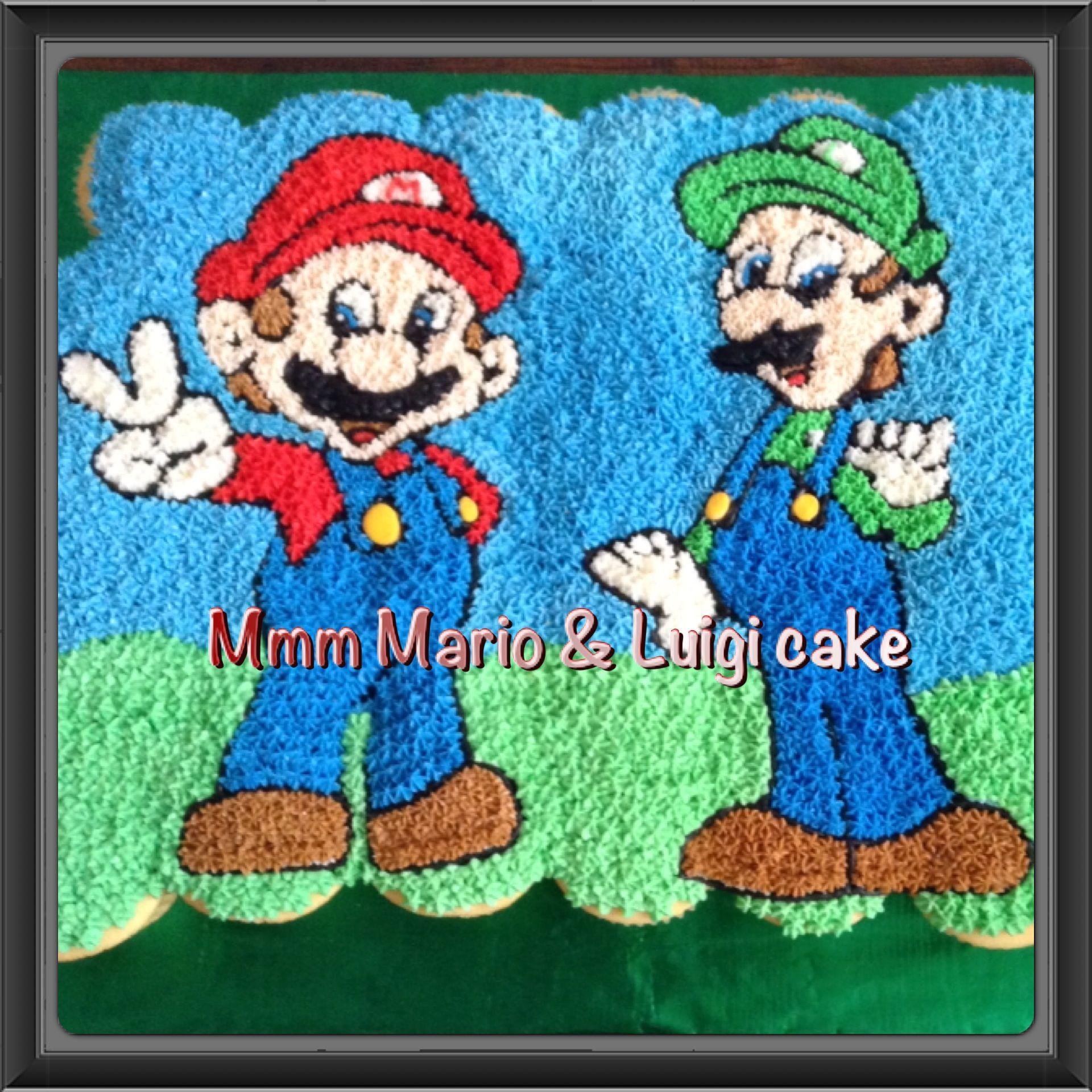 Mario Amp Luigi Cupcakes Cake