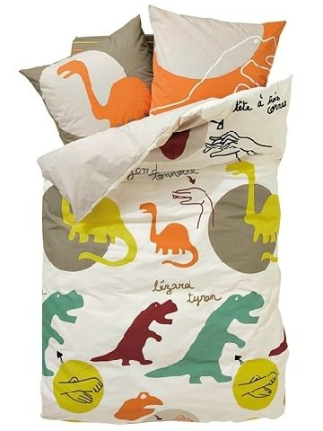 Dinosaur bedroom on pinterest boys dinosaur bedroom for Housse couette bio