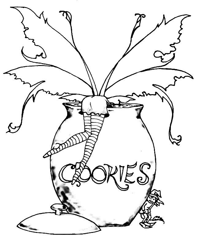 Gothic Fairy Coloring Pages