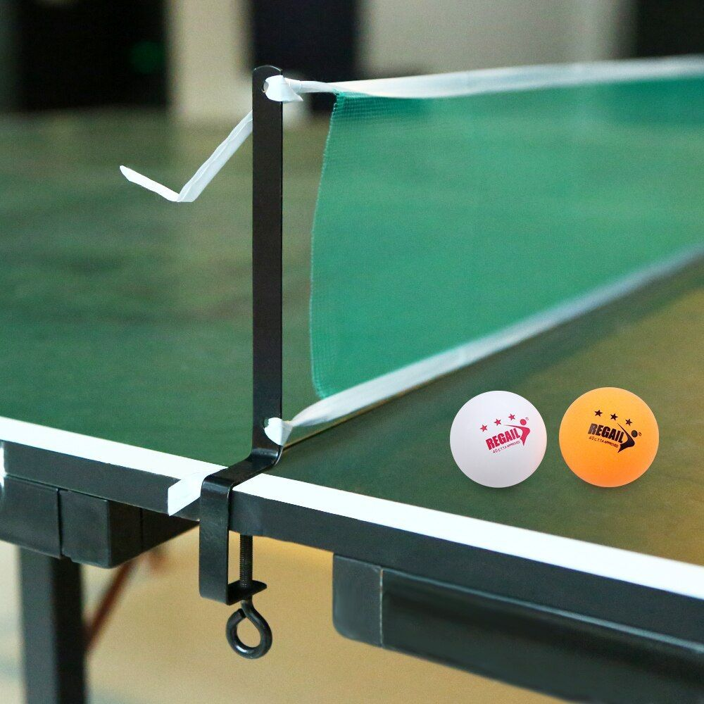 High Quality Professional Table Tennis Table Net With 2 Ping Pong Balls Posts Ping Pong Strong Mesh Net High Table Tennis Tournament Ping Pong Table Tennis