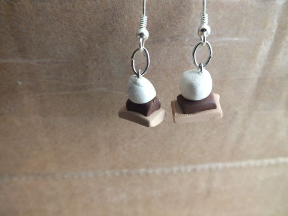 Smores Earrings by InTheRoseGarden91 on Etsy, $3.50 Show off the fall favorite snack =]
