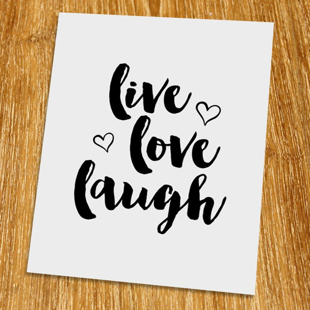 live love laugh print (unframed), typography print, scandinavian