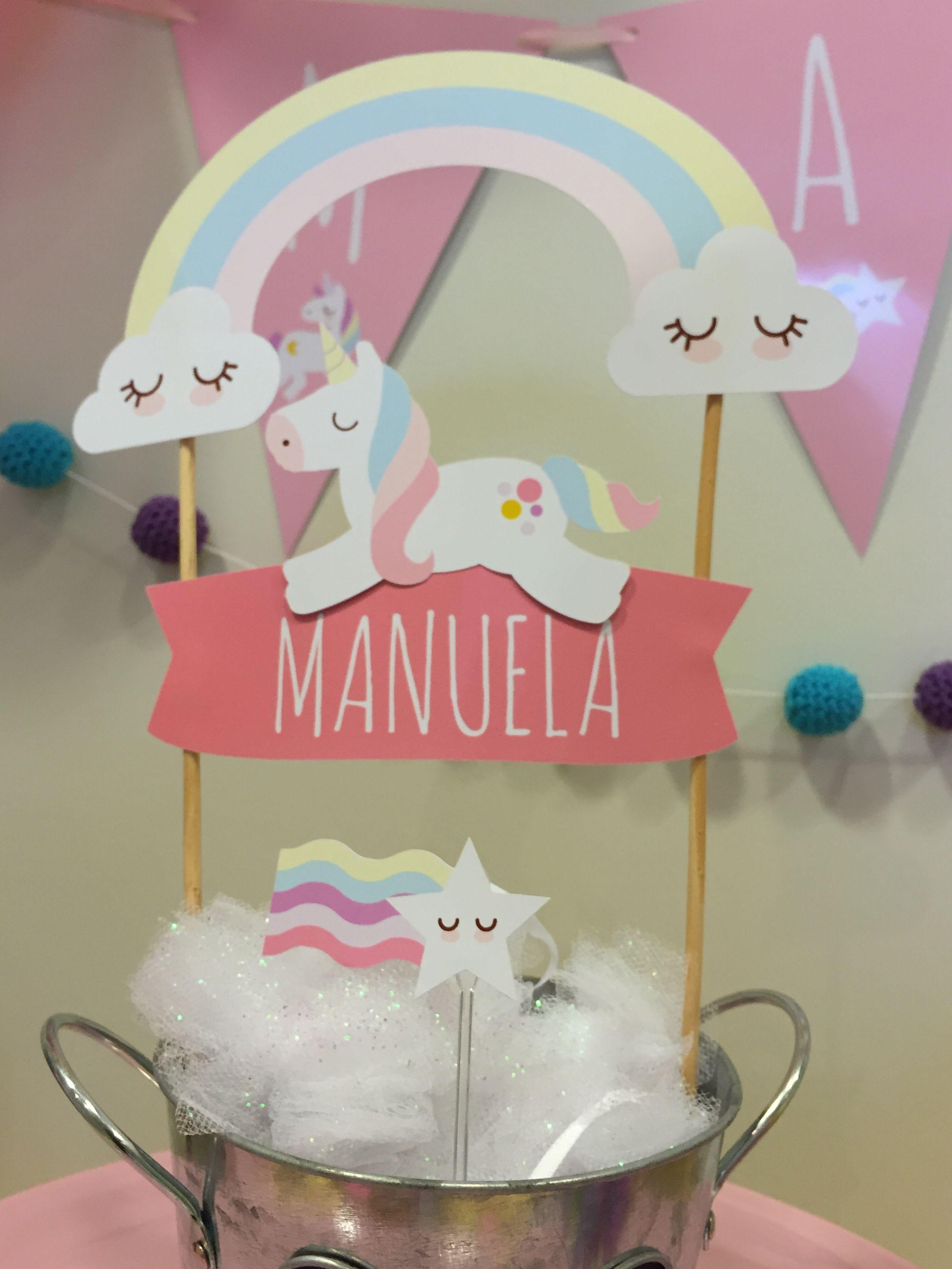 Topo de bolo tema unicórnio | aniversário | Pinterest | Unicorns ...
