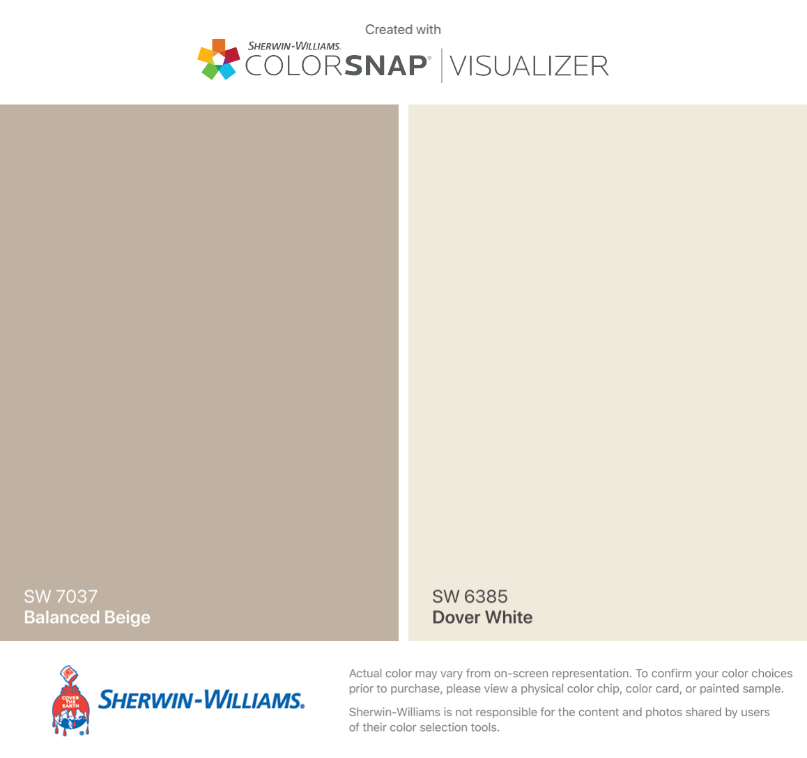 Sherwin Williams Balanced Beige Sw 7037 Dover White Sw 6385 Balanced Beige Sherwin Williams Balanced Beige Dover White
