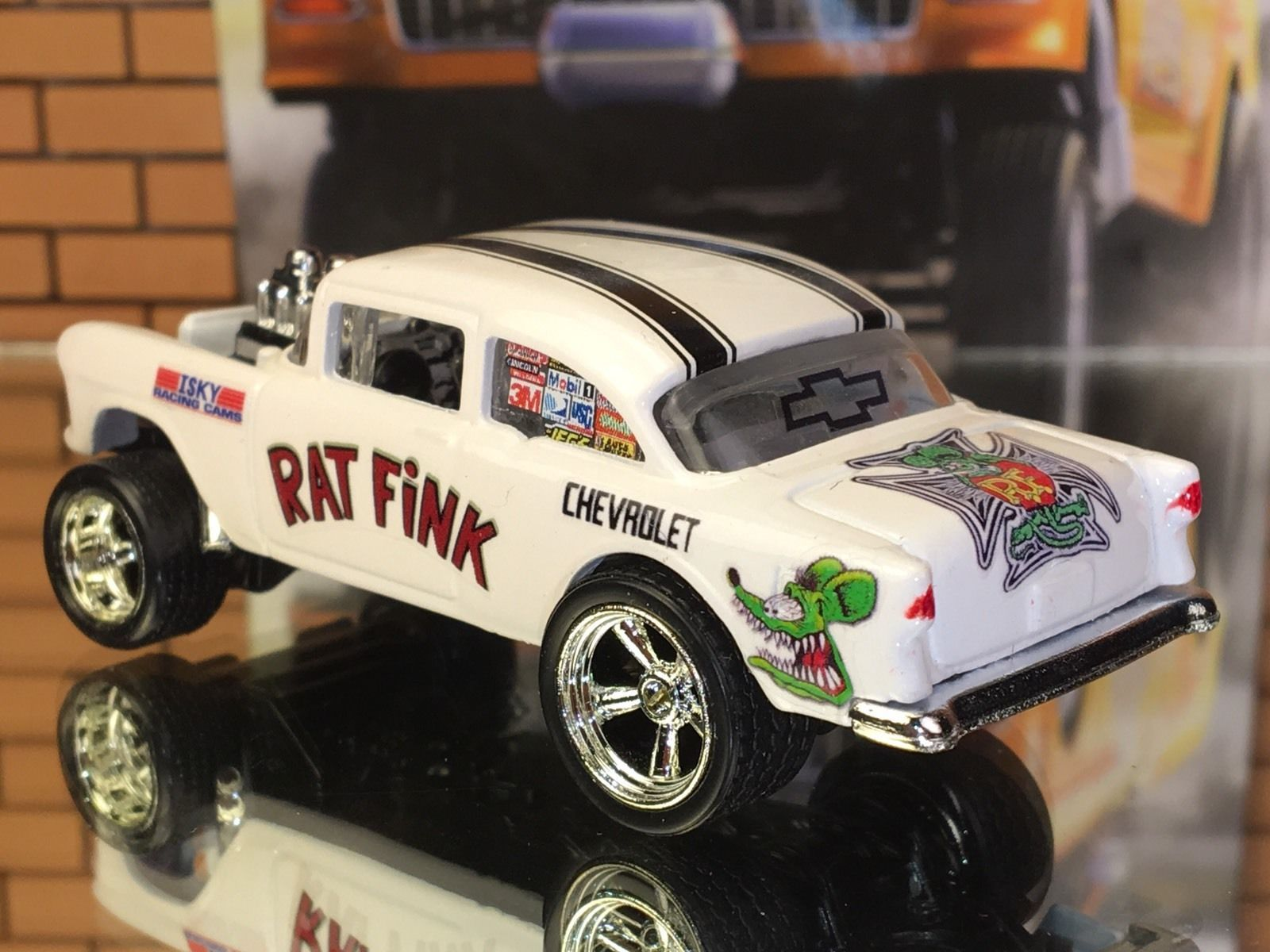 Hot Wheels 55 Chevy Gasser Rat Fink Custom Paint Decals Real