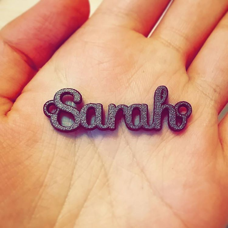 Name necklace in polished bronze! Everyone wants one.  #namependant #name #pendant #chain #3dprinting #3dprintedjewelry #jewellery #jewelry #custommade #bronze #polished #etsy #shapeways #onlineshopping #pakistan #hobby #sarahsscrapbook #fashion #costumejewelry #sarah