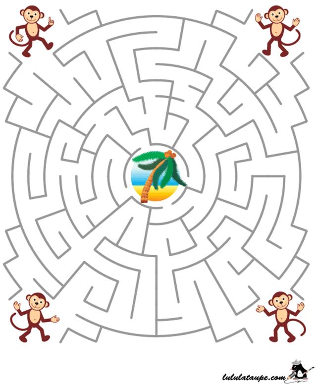 Labyrinthe gratuit à imprimer | Labyrinthe à imprimer, Labyrinthe et Labyrinthe enfant