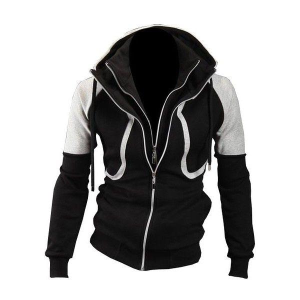 Partiss Herren Jungen Sport Casual Slim Training Kapuzenpullover... (170 CNY) via Polyvore featuring activewear, activewear tops and sports activewear