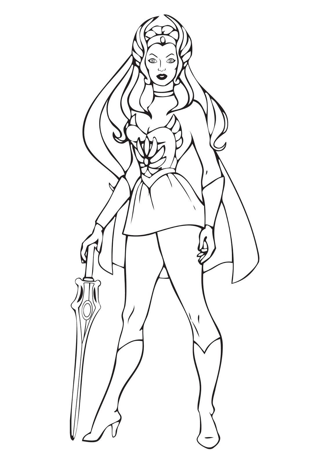 Desenhos de She-Ra para pintar, colorir, imprimir! Moldes e riscos ...