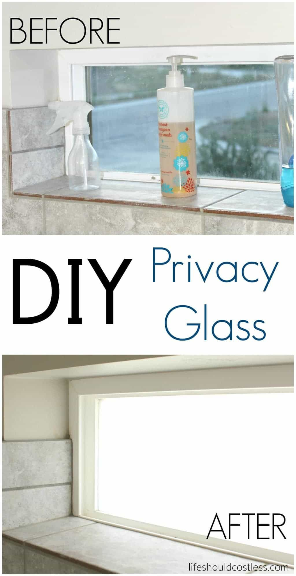 Diy privacy glass it takes less than an hour and can