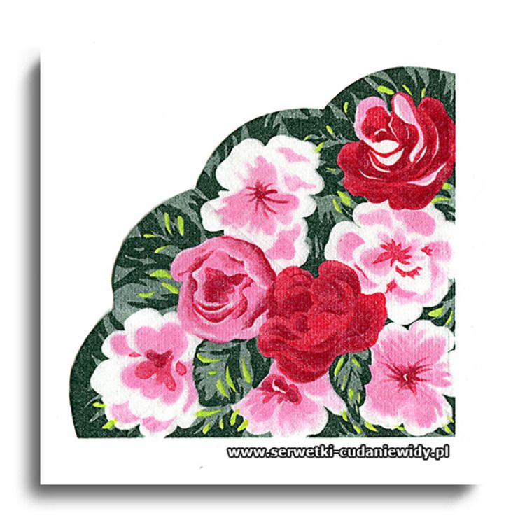 Serwetki Papierowe Dekoracje Kwiaty Flowers Blumen Serwetki Dekoracyjne Do Decoupage Serwetki Kolekcjonerskie Napkin Collection Rondo 32cm Hobby Ser