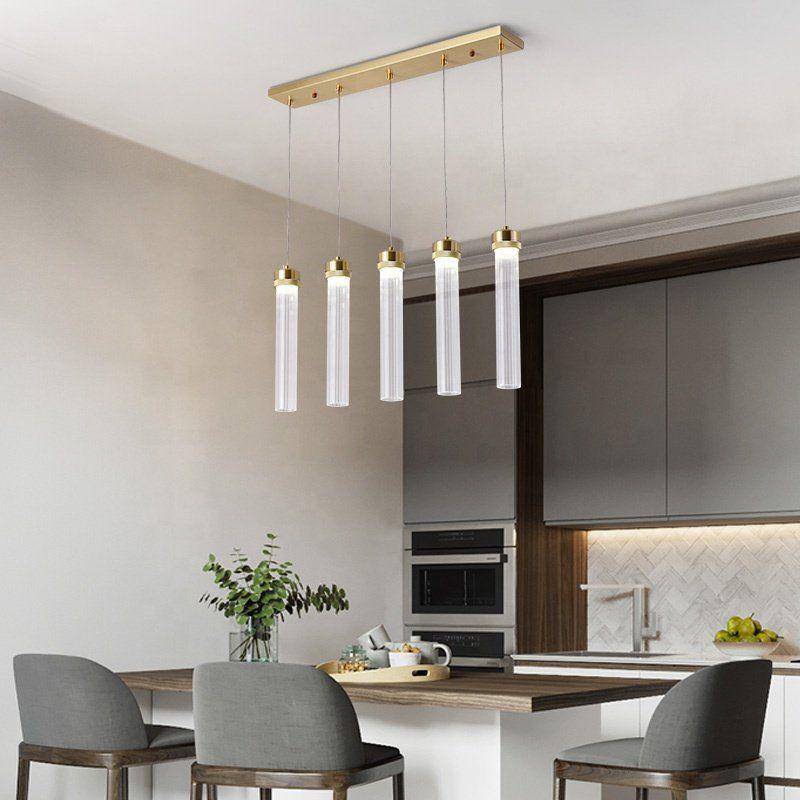 Photo of Postmoderne einfache Designer LED Dekoration Pendelleuchte Glasröhre Pendelleuchte