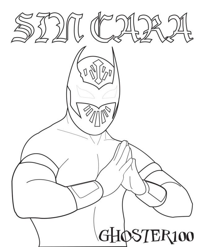 Wwe Coloring Pages Printable wwe coloring pages Pinterest