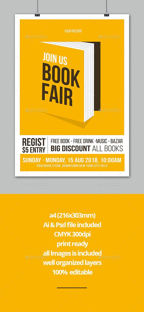 Book Fair Flyer Book Fairs Event Flyers And Books