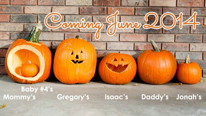 8 Fall Themed Pregnancy Announcements Like This Pumpkin Family
