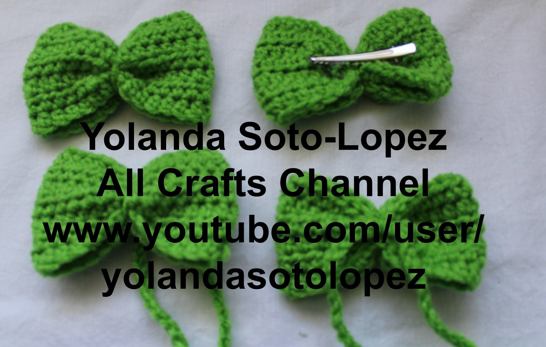 Moño o corbata de moño en #Crochet : pinche para cabello | Crochet ...