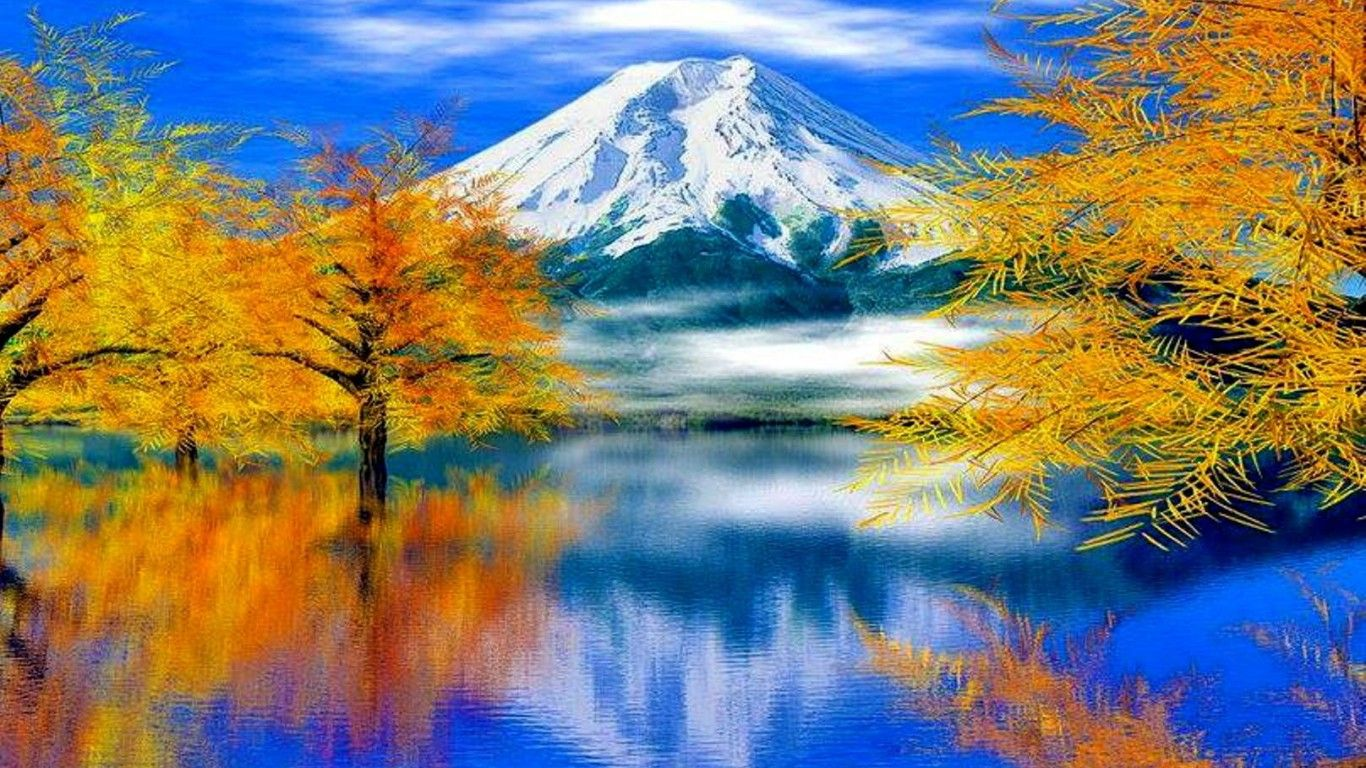 Lakes Mountain Lake Art Nature Autumn Paintings Sky Water Mountains Trees Reflection Pencil Drawing Landscape Drawing Easy Landscape Drawings Autumn Landscape