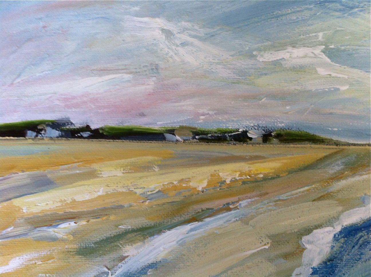 Large Abstract Beach Painting Abstract Beach Painting Beach Painting Large Abstract