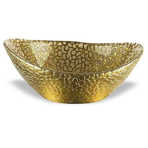 Antique Decorative Bowls Badash Antique Gold Snakeskin Bowl 65555Inch  Antique