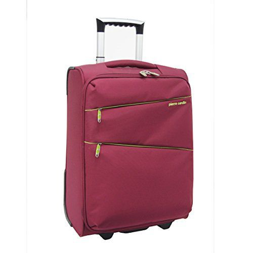 Pierre Cardin Travel Luggage - 2 Wheel Trolley Suitcase - 20 ...