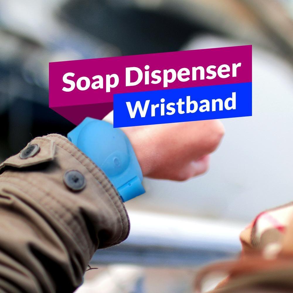 Soap Dispenser Wristband - Purple