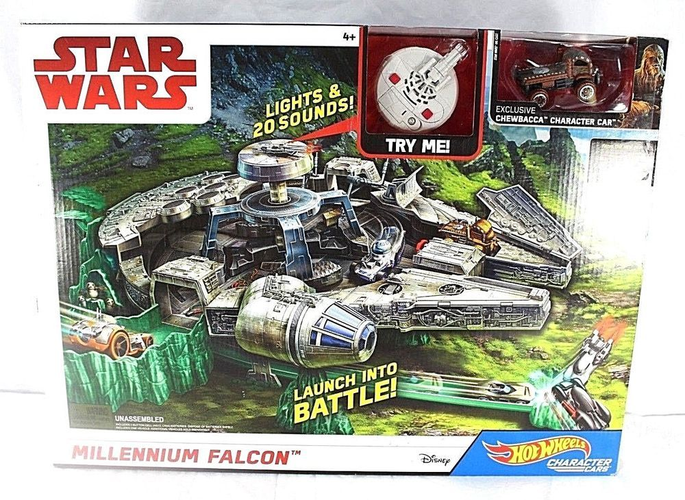 Hot Wheels Character Cars Star Wars Millennium Falcon Track Set