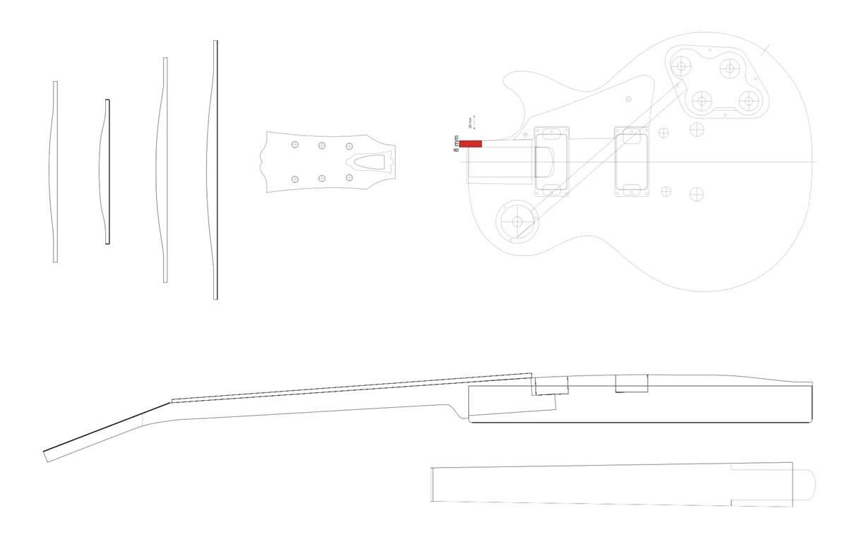 Gibson Les Paul Guitar Templates Mit Bildern Gitarre