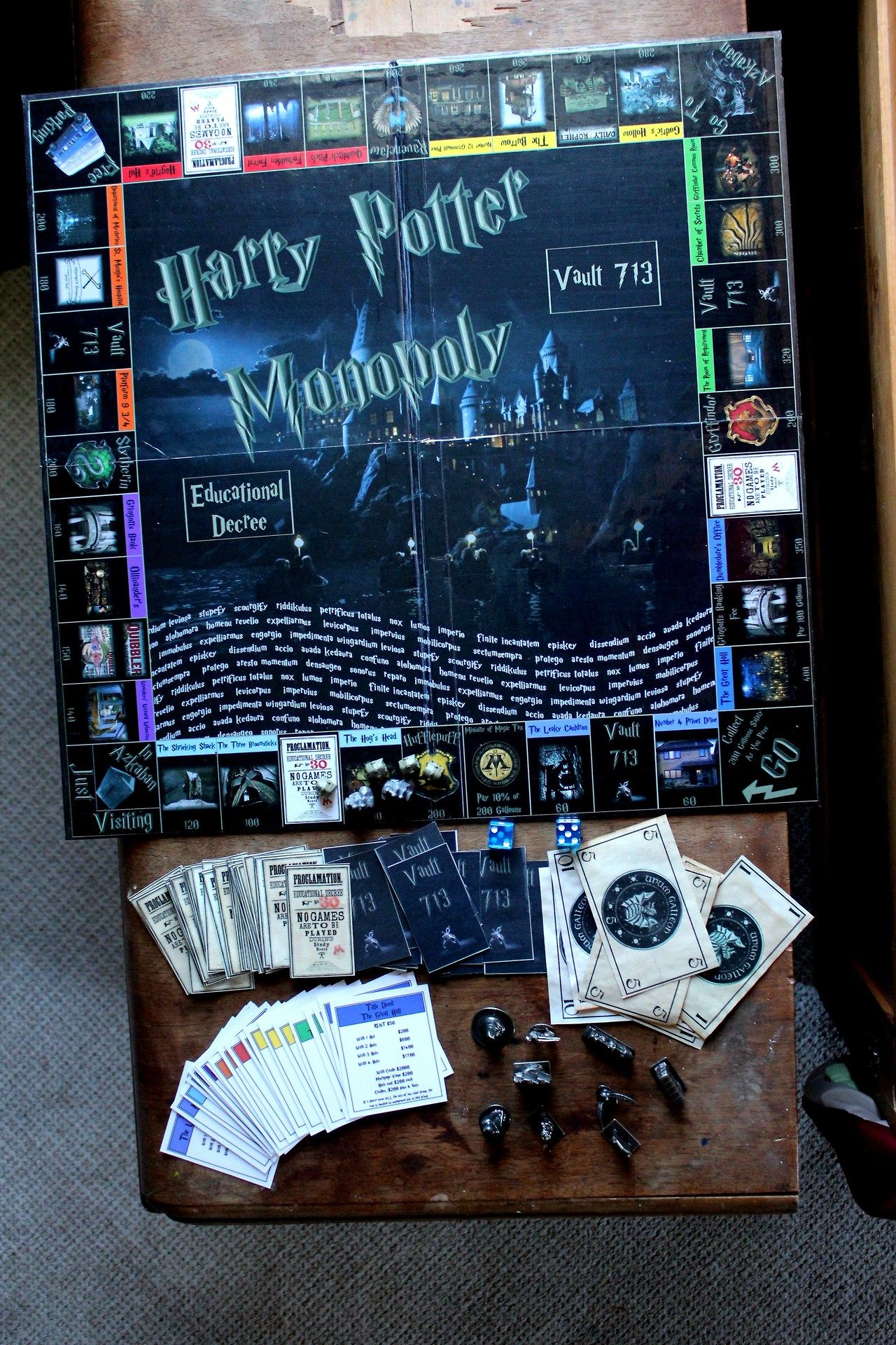Amazing... I have to make one! Harry potter monopoly